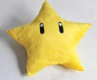 Cheap Super Mario Bros Plush Toys Yellow Star Pillow Plush Doll Mario Stuffed Animals Mario Brothers Toys SM0017