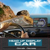 Wholesale 2015 new Arrival inch Large Screen Car HUD Head Up Display with OBD2 Interface Plug Play A8 Car HUD Display DHL