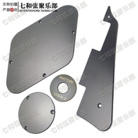 Wholesale A set of Black LP Electric Guitar Pickguard Cavity Cover Switch Cover Pickup Selector Plate guitar parts
