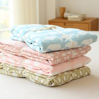 Wholesale Left ear by Japanese minimalist Tianzhu cotton knit cotton bed linen Li bedspreads do with a soft Cotton Bedding