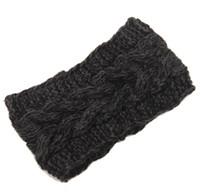 Wholesale Fashion Womens Adult Lady Crochet Winter Autumn Knit Headbands Warm Hoop Wide Plait Headbands ear warmer Wool Stretch Hair Bands D706J