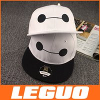 Wholesale BAYMAX Hat flat along the hip hop cap children hat