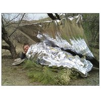 Wholesale 1200pcs Emergency blanket Survival Rescue curtain outdoor life saving Survival blanket military blanket both sides silver