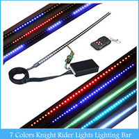 Strips Universal Universal Super Bright 130 Modes of Scanning 7 Colors Knight Rider Lights Lighting Bar 5050 SMD 48 LED 12V with Remote Control C379