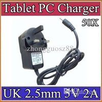 Wholesale 50X mm V A Charger Converter Power Adapter UK plug V AC Hz for quot quot quot A23 A33 A31S A83T Tablet PC CQ