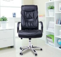 Wholesale 360 Degree Durable Rolling swivel chairs Black PU leather sofa chairs Computer office chairs supplies New