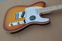 Wholesale Guitar Factory High Quality Telecaster Guitar Maple Fingerboard Sunburst tele Electric Guitar Chrome Hardware