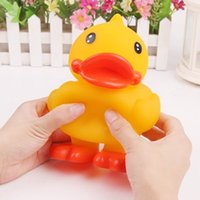 Cheap 5pcs lot Cute Giant Rubber Duck Model Decompression Toy Stress Relief Vent Squeeze Gadget, free shipping