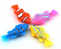 Wholesale LED Light Novel Robofish Electric Toy Robo Fish Emulational Robot Fish Electronic pets Creative Baby toys Plastic Emulational Toy Robot Fish