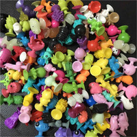 Wholesale 100PCS New Ikee mini Sucker Action Toys Figures CM kids children cartoon animals Genius Stikeez toy Christmas gift