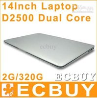 Cheap 14 inch Dual Core laptop tablet pc Best 2G DDR3 320G Win7 win 7 Air Book D2500 N