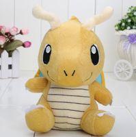 Wholesale 16cm quot Dragonite yellow toy soft plush doll stuffed animal anime Dragonite