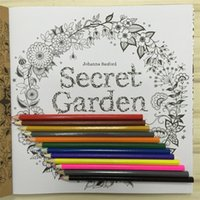 Wholesale New Secret Garden Fantasy Dream Coloring Book with Coloured Pencils Adult Children Relax Graffiti Painting Book