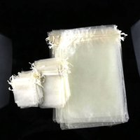Favor Bags White Organza 100pcs lot Hot sell Ivory Organza Jewelry Gift Pouch Bags For Wedding favors,beads,jewelry 7X9cm 9X12cm 13X18cm 20X30cm