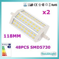 Cheap 2PCS R7S LED Lamps 118MM 5730 SMD AC85-265V 15W LED R7S Corn Light Bulbs Replace Halogen Floodlight