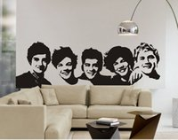 one direction posters - 2015 Hot One Direction Sticker D Poster Bedroom Living Room Decoration Pictures Removable Wall Art free ship