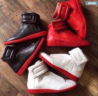 Wholesale 2015 hot maison martin margiela men s Full leather High top Fashion Leisure sneakers boots