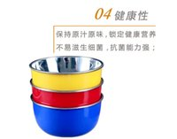 Stainless Steel plastic bowl wholesale - Mini size cm Colorful color Fashion colorful stainless steel and plastic bowls against hot popular brands Fruits bowls
