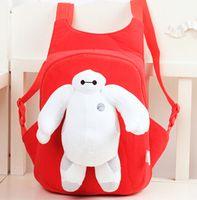 Wholesale Big Hero Baymax Children School Bag Baby Girls Boys D Cartoon Plush Toy Doll Backpack Kindergarten Kids Shoulder Bag Gift