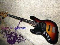 left handed bass guitar - Retail Left Handed Strings sunburst Electric Bass Guitar From China