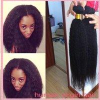 yaki weave hair - 8A Mongolian Pure Coarse Yaki Italian Yaki Human Hair Extensions Virgin Mongolian Afro Kinky Straight Weave Instock