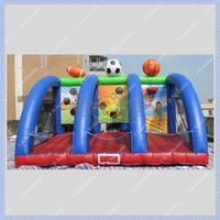 backyard sports - High Quality Inflatable Ball Game Easy Stall Funny and Exciting Sports Game Football Basketball Rugby Game Hoop