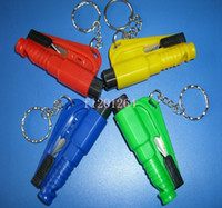 Wholesale Fedex DHL Newest in Mini Safety Hammer Car Life saving Escape Hammer Window Keychain