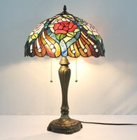 Wholesale Pastoral grade glass Tiffany lamps living room lamp bedroom den Restaurant Bar Hotel factory direct custom