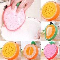 Wholesale Fruit Shape Thick Sponge Cloth Cute Washing Cloth Towel Non Stick Oil Sponge Kitchen Cleaning Sponge