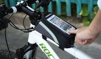 Wholesale 4 inches Bicycle Touchscreen Mobile phone bags Cycling Bike Front Tube Bag bicycle accessories bicycle Bag