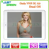 android phone dual boot - Inch Onda V919 G Air Dual Boot Intel Z3736F Quad Core GB GB Tablet PC G Phone Call MP Windows Android Dual OS