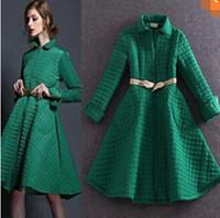 Wholesale The new autumn and winter aristocratic ladies embossed umbrella big skirt female coat coat