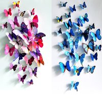 art deco doors - 3D Butterfly Sticker Art Wall Mural Door Decals Home Decor Art DIY Decorations Paper Fridge Wedding festival Deco set
