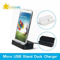 Wholesale Charger Mobile Phone Galaxy S4 - Wholesale-Hot! Micro USB Base Desktop Charging Stand Station Dock Charger Adapter for Samsung Galaxy S4 S5 S6 Edge Note 3 4 Mobile Phones