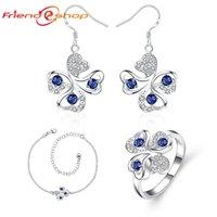 Cheap TS041-A Fashion charm 925 silver Fashion silver earrings and elegant two piece pop