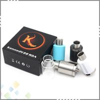 rda - Huge Vapor KENNEDY RDA Rebuildable Drippping Atomizers Kit with Extra Glass Tube PEEK Insulator fit Mods DHL Free