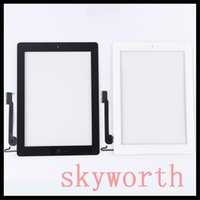 Wholesale For iPad mini Touch Screen Glass Digitizer replacements With home button adhesive Complete Assembly