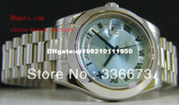Wholesale newFactory Supplier AAA Top Quality Luxury PLATINUM President II GLACIER mm Automatic Mens Watch Men s Watches