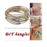 bracelets wholesale cheap bangles - Fashion Europe retro Cheap Alex Ani iron wire loop combination Charm Bracelets Women adjustable Bangle