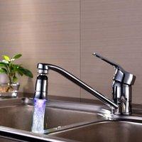 Wholesale Cool Color Rotate Faucet Water Glow Temperature Sensor Control LED Rewarding