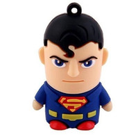 Wholesale Super Man Flash Memory Stick Captain America Batman Spiderman Green lantern Super Hero Flash Pen Drive Real GB GB GB GB