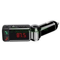 Wholesale 2015 New Multi Function Bluetooth Car Kit Mp3 Player Charger Wireless Fm Transmitter Modulator Dual Usb Aux DHLFree