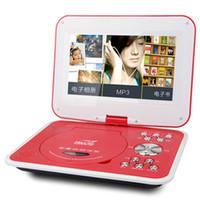SAST 12 pulgadas 3D portátil HD DVD EVD jugador que mueve la TV VCD CD MP3 / 4 SD USB del juego móvil juego de discos de vídeo TV Máquina de envío libre