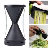 carrot grater - Funnel Model Fruit Vegetable tools Shred shredder Device Cutter Carrot Piece Spiral Slicer Grater