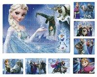 Wholesale 40 New Frozen Puzzles Kids Puzzles Elsa Anna Puzzle Children s Educational Toys Gift