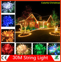 christmas garland - 30M Christmas Decoration lights LED string Light Christmas V Wedding garland outdoor curtain rope lamps