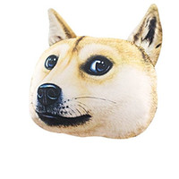 Wholesale Boyue Funny Cute Shiba Dog Head Cushion Bolster Pillow