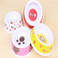 automatic heating supply - cm plastic dog bowls cartoon pattern heat resistant anti shock feeders pets feeding tool supply