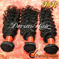Wholesale Derun Hair Super Sale Mix inches Brazilian Curly Human Hair Weft Extension Natural Color Hair Weave