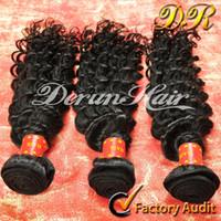 curly human hair extensions - Derun Hair Super Sale Mix inches Brazilian Curly virgin Human Hair Weft Extension Natural Color virgin Hair Weave